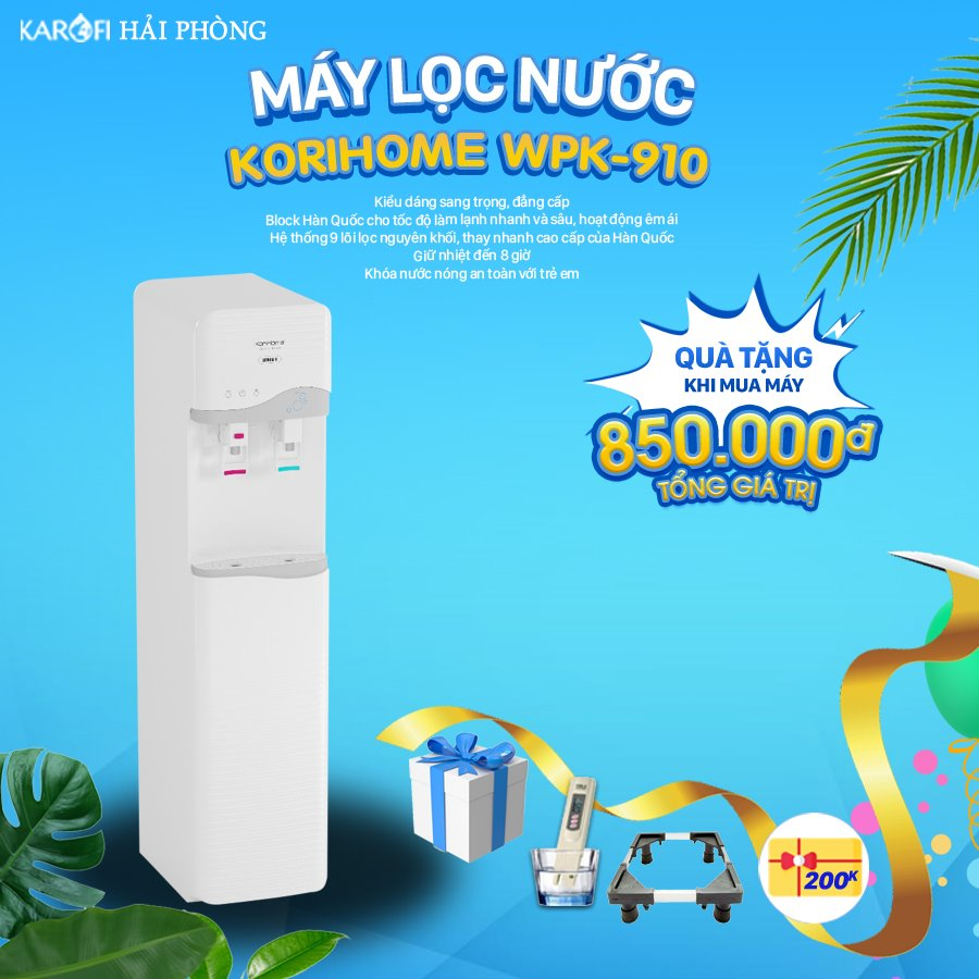 máy lọc nước kirohome wpk-910